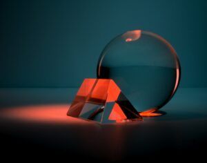 clear glass ball with box