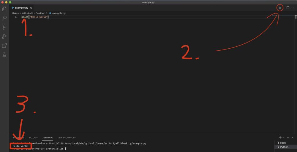 How to Run Python program in Visual Studio Code