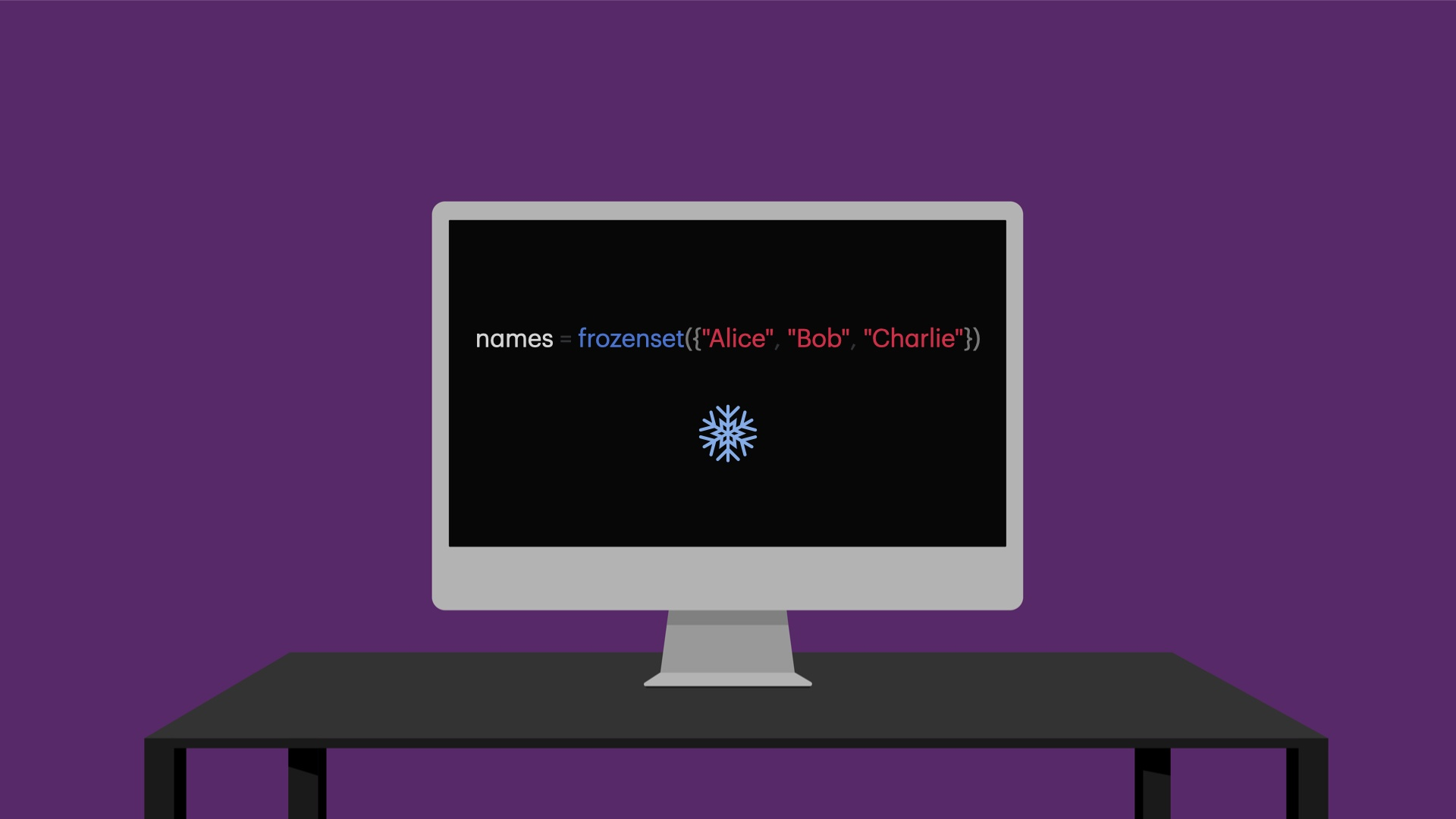 Frozen set in Python