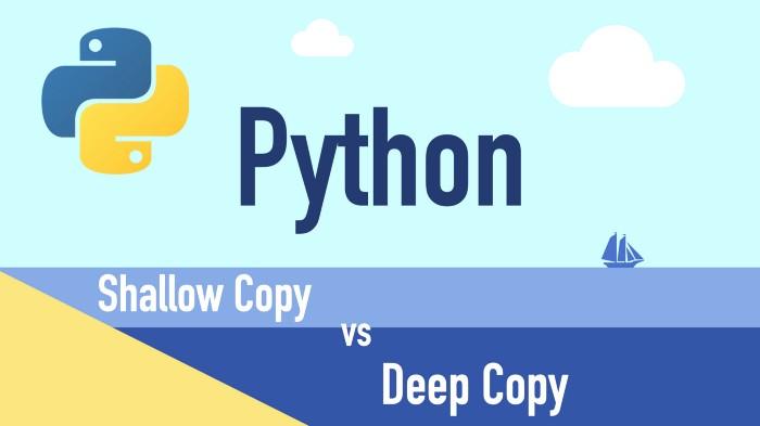 Shallow copy vs Deepcopy in Python