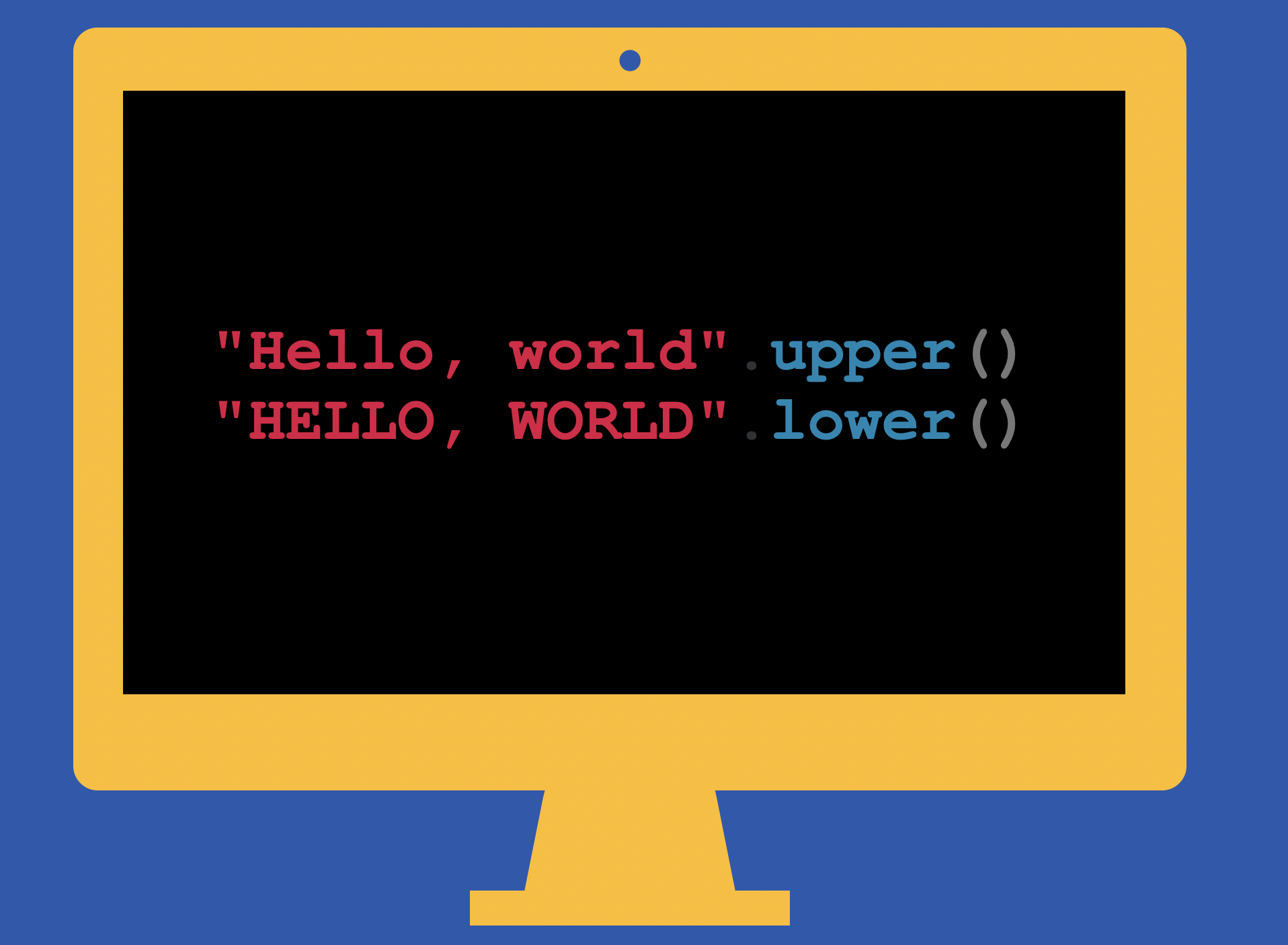 python string lowercase and uppercase