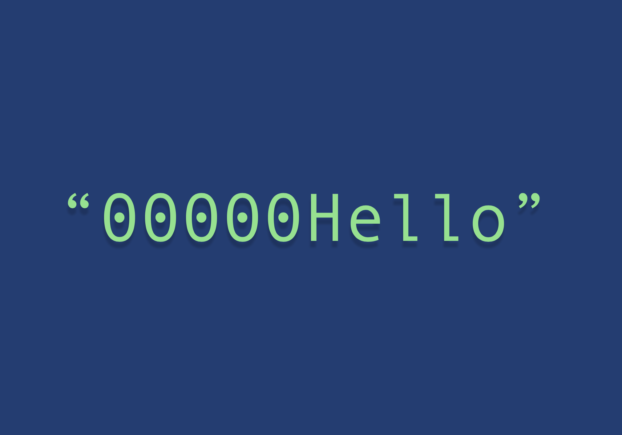 Python zfill method