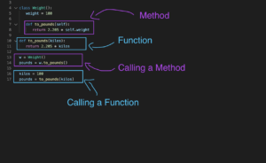 Python function vs method